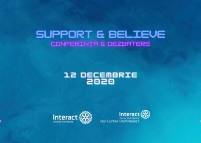 Support and Believe –  Conference and Debate